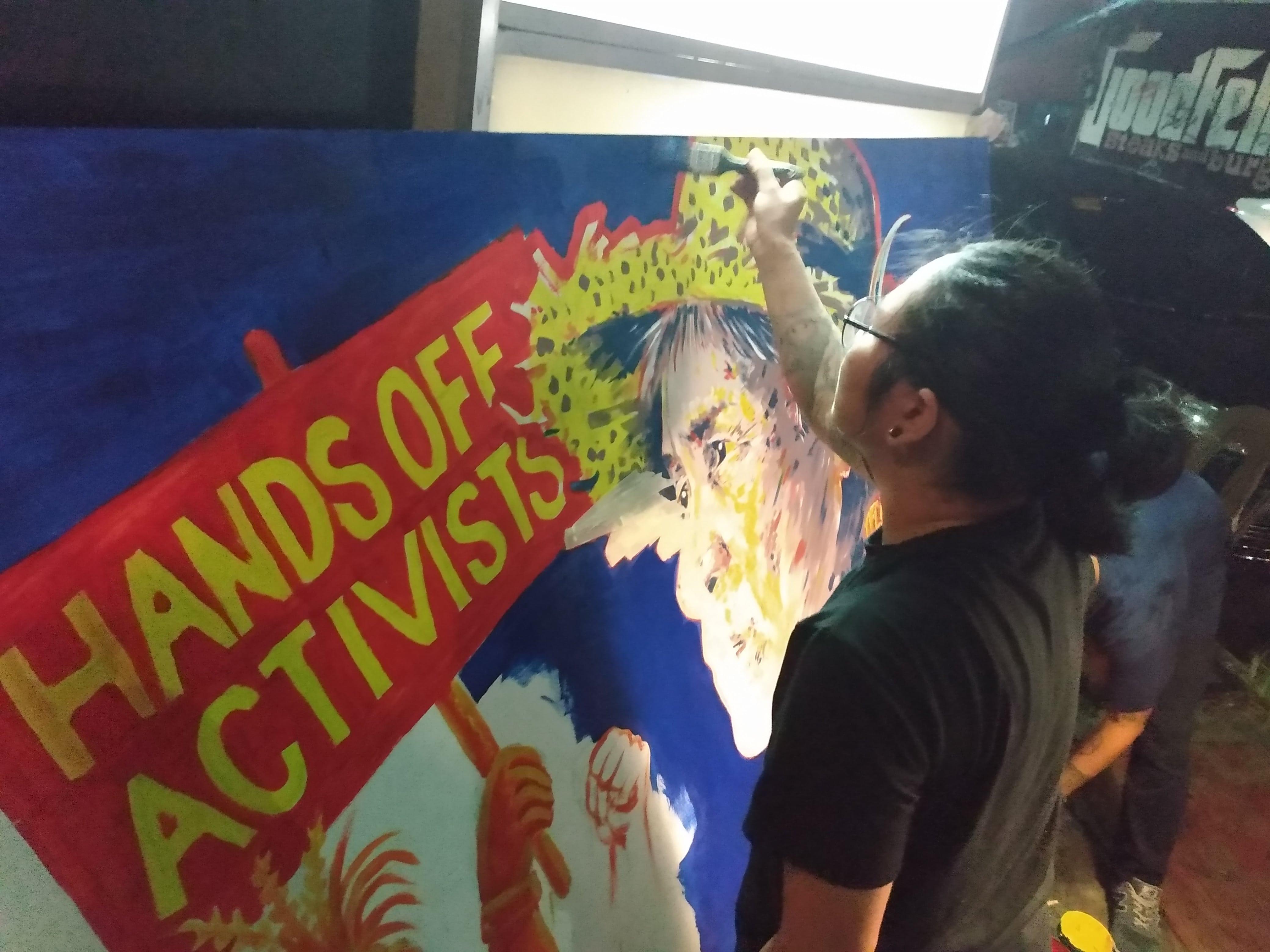 JOHAN IN DE FILIPIJNEN: Filipijnse activisten tonen solidariteit voor elkaar