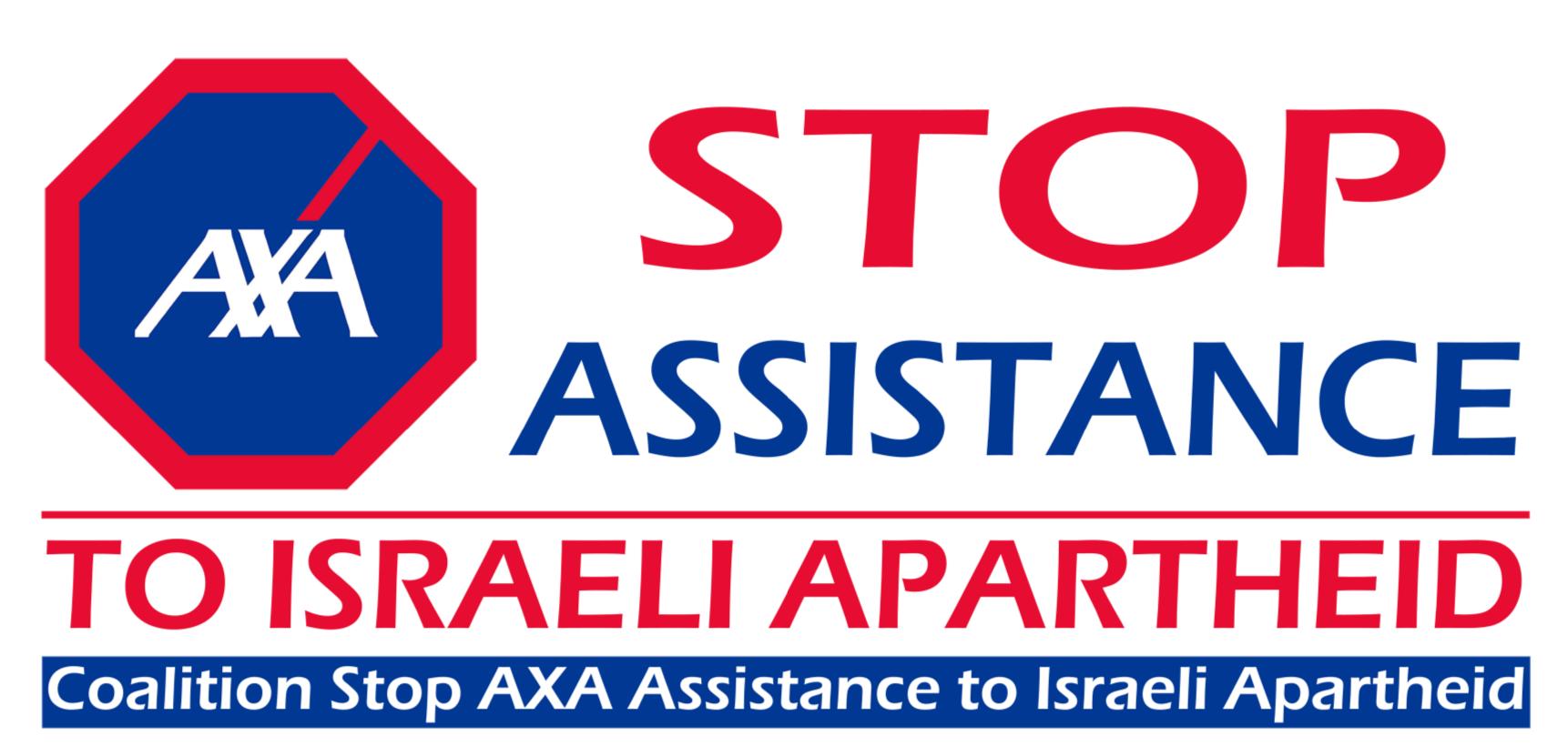 Des militants belges demandent à AXA Insurance de cesser d'investir dans l'apartheid israélien