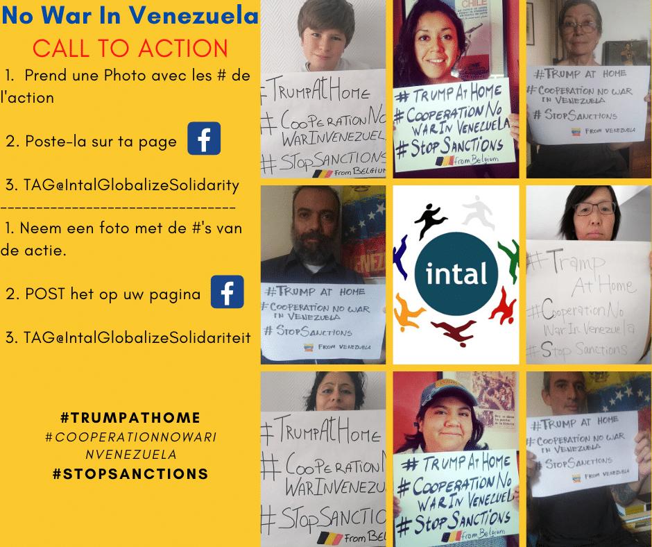 Geen sancties en militaire agressie in Venezuela !