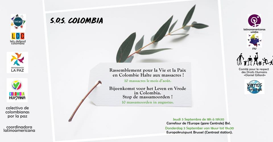 Communiqué de presse : Rassemblement contre les assassinats des jeunes en Colombie