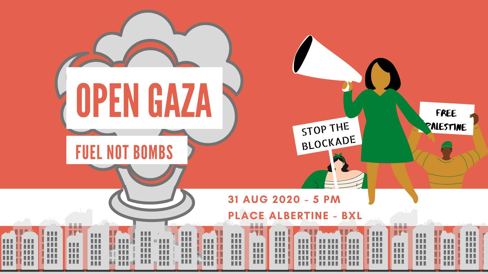 Communiqué de presse : Ouvrons Gaza, ses habitants ont besoin de carburants, pas de bombes!