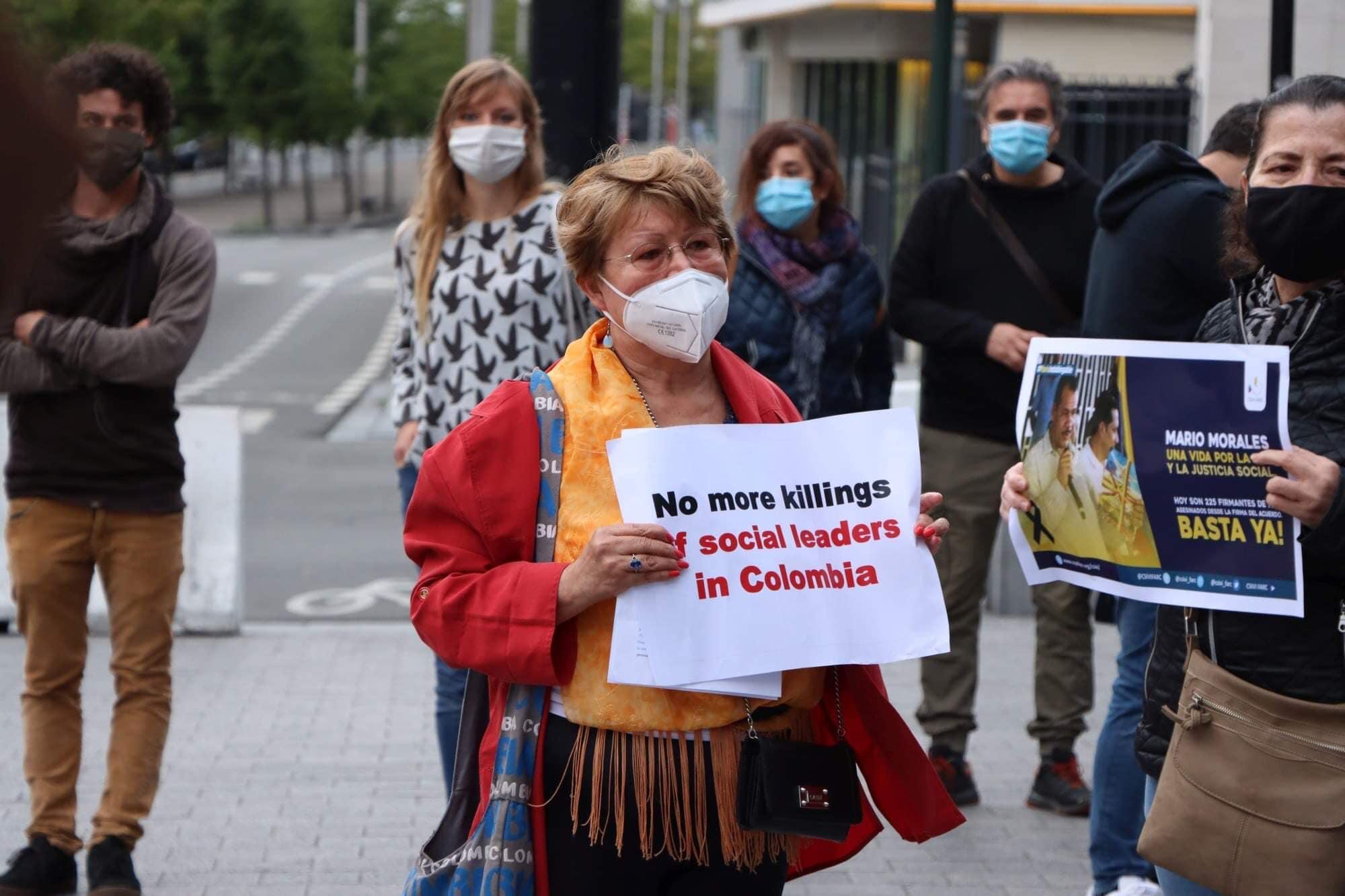 Rassemblement pour la paix en Colombie – Bruxelles
