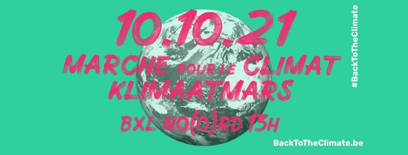 Klimaatmars: op 10 oktober, gaan we #BacktotheClimate
